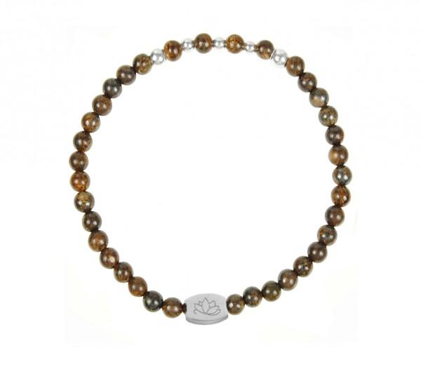 MAS jewelz Armband Bronzit/ Silber 4mm
