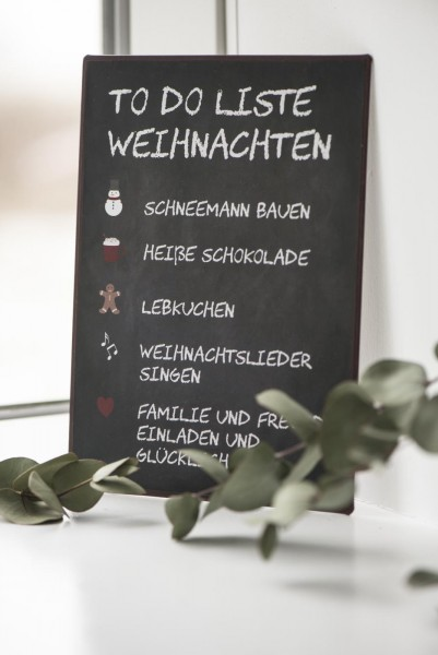 "Metall Schild ""To Do Liste Weihnachten"""
