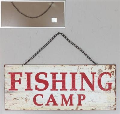 "Metall Schild ""FISHING CAMP"""
