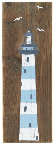 Holz Schild mit Leuchtturm Ib Laursen ApS