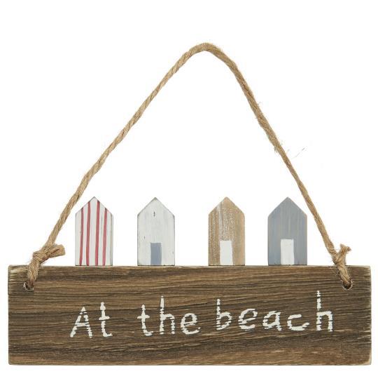 Witzigschilder - Holz Schild At the beach mit Häusern Ib Laursen ApS - Onlineshop Tante Emmer