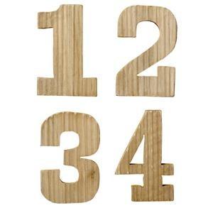 Holznummern Treibholz 1, 2, 3, 4 von Bloomingville