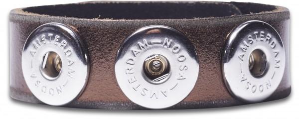 NOOSA Armband Raw Romance MAROON metallic S