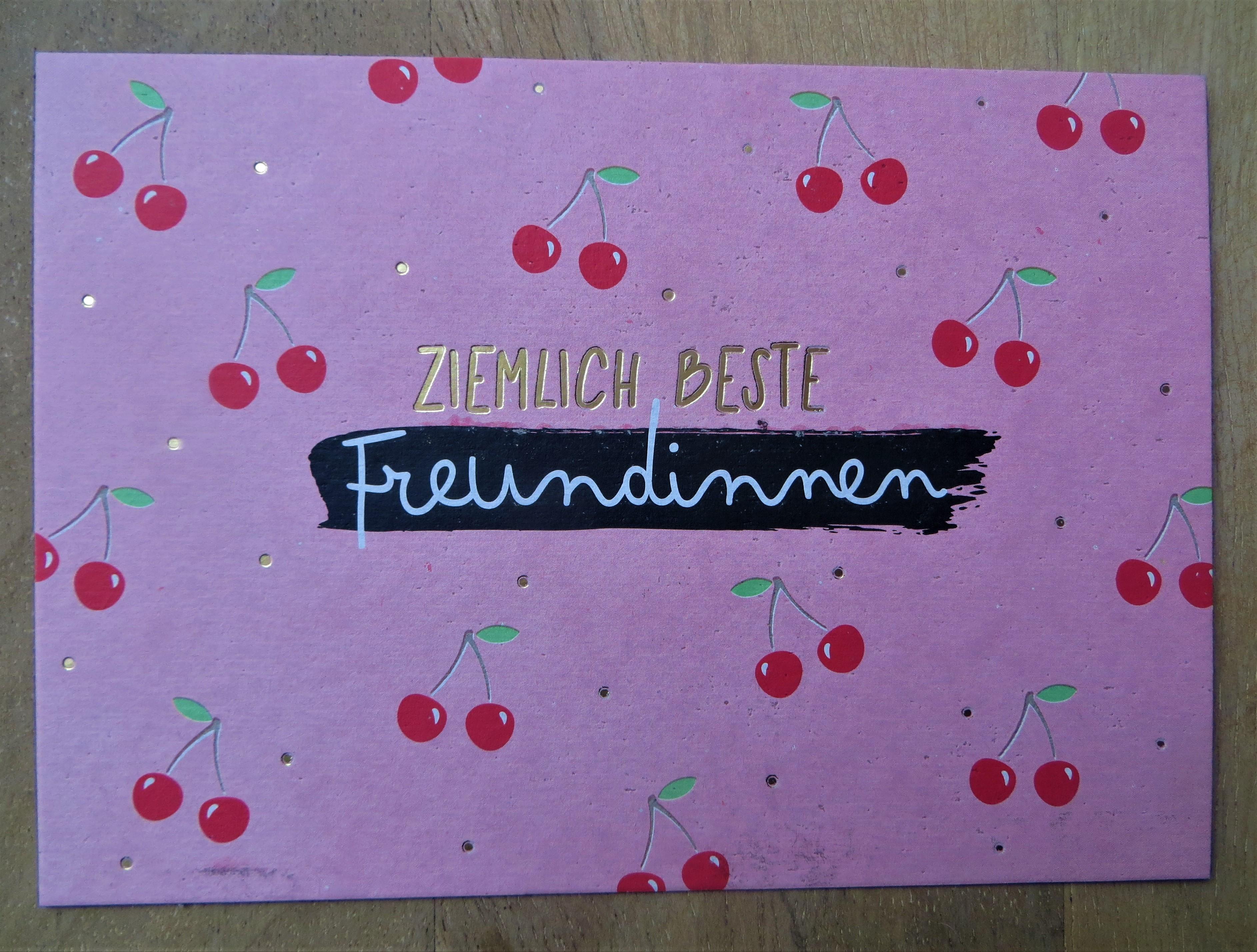 Nützlichgrusskarten - Postkarte Ziemlich beste Freundinnen KUNST und BILD - Onlineshop Tante Emmer