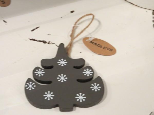 Weihnachtsbaum mit Schneeflocken Anhänger Aufhänger Christbaum Tannenbaum MADLEYS