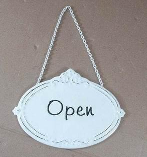 """Metall Schild """"Open"""""""