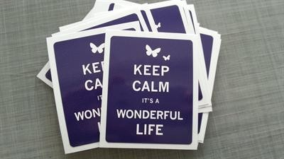 "Sticker / Aufkleber ""Keep calm it´s a wonderful life"" La"