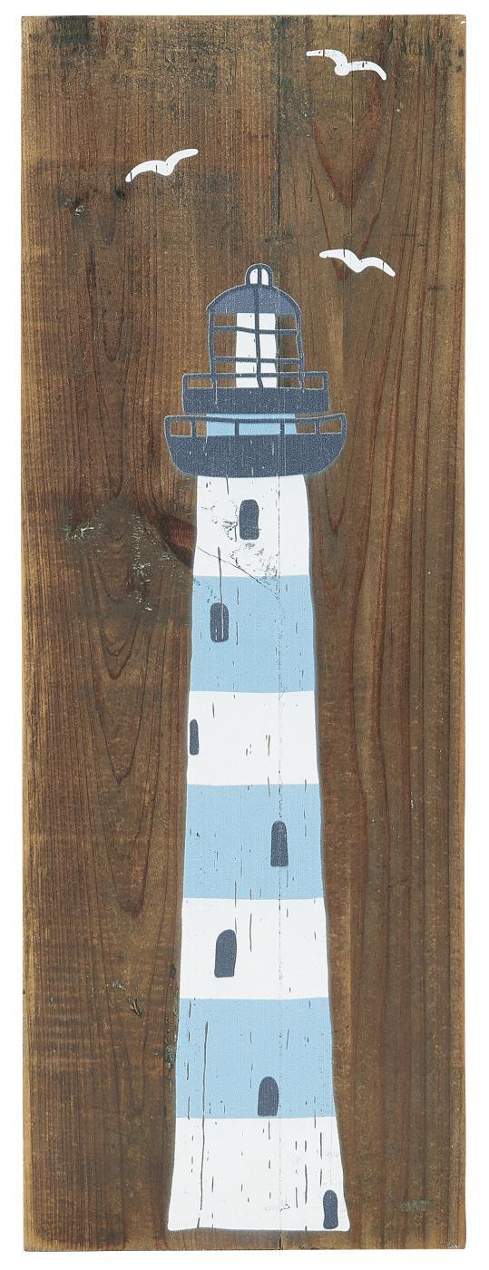 Witzigschilder - Holz Schild mit Leuchtturm Ib Laursen ApS - Onlineshop Tante Emmer