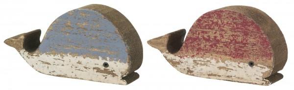 Ib Laursen Holztier Wal, rot