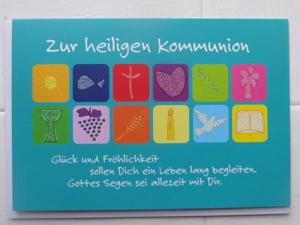 """Klappkarte """"Zur heiligen Kommunion"""""""