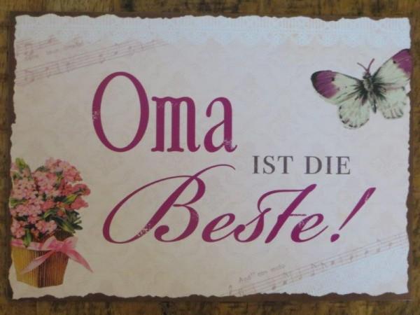 """Postkarte """"Oma ist die Beste!"""""""
