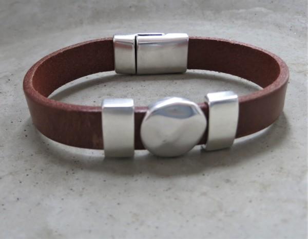 QOSS Armband KIM Braun-Silber, L