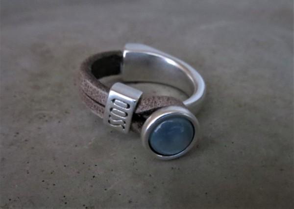 QOSS Fingerring EVA Grau-Eisblau, M