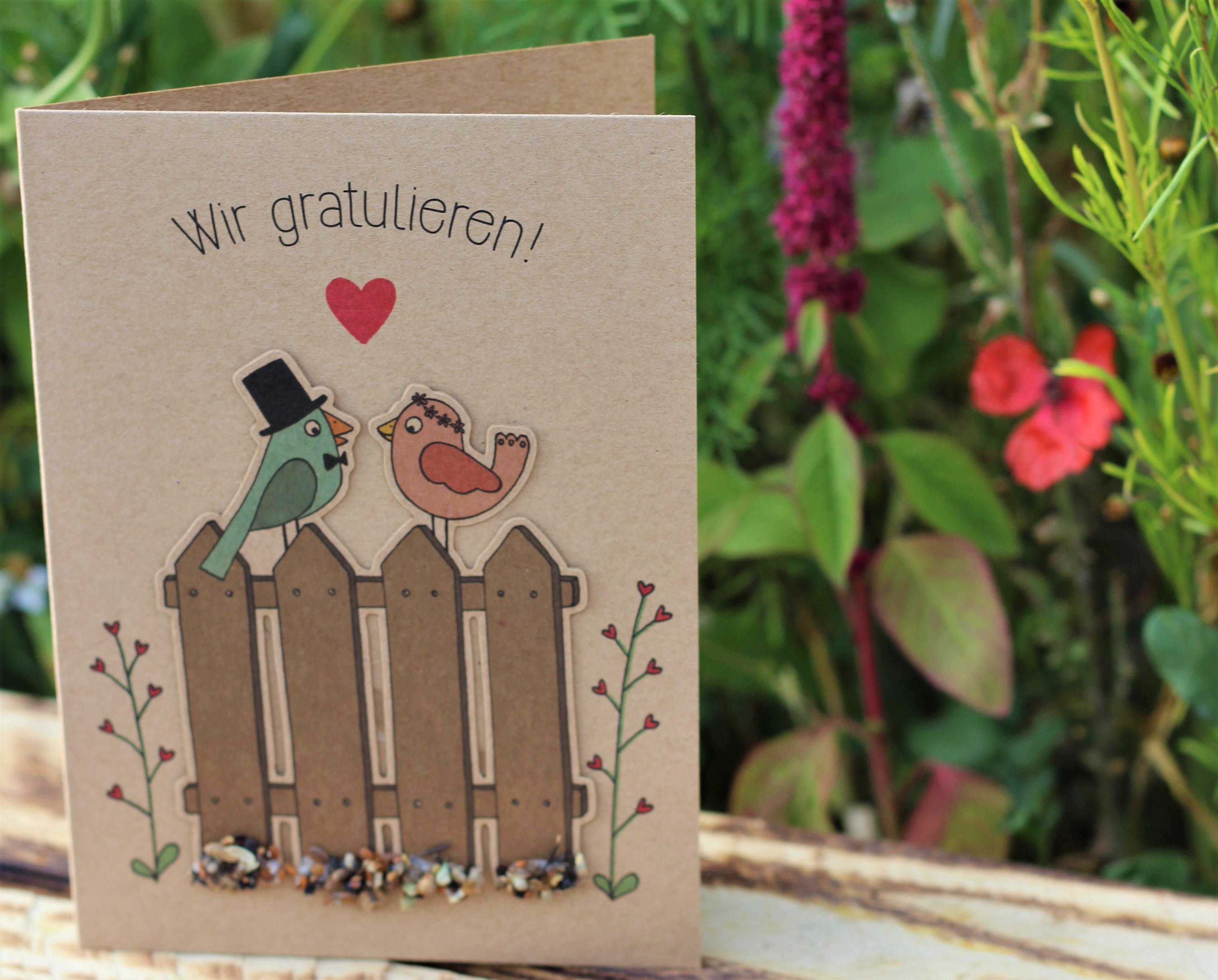 - Glückwunschkarte Wir gratulieren mit Wildblumen Saatstecker - Onlineshop Tante Emmer