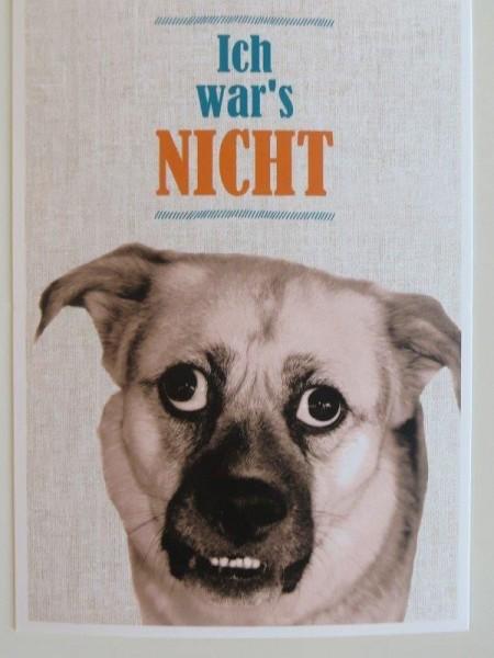 """Postkarte Karte """"Ich war`s NICHT"""" Paloma"""