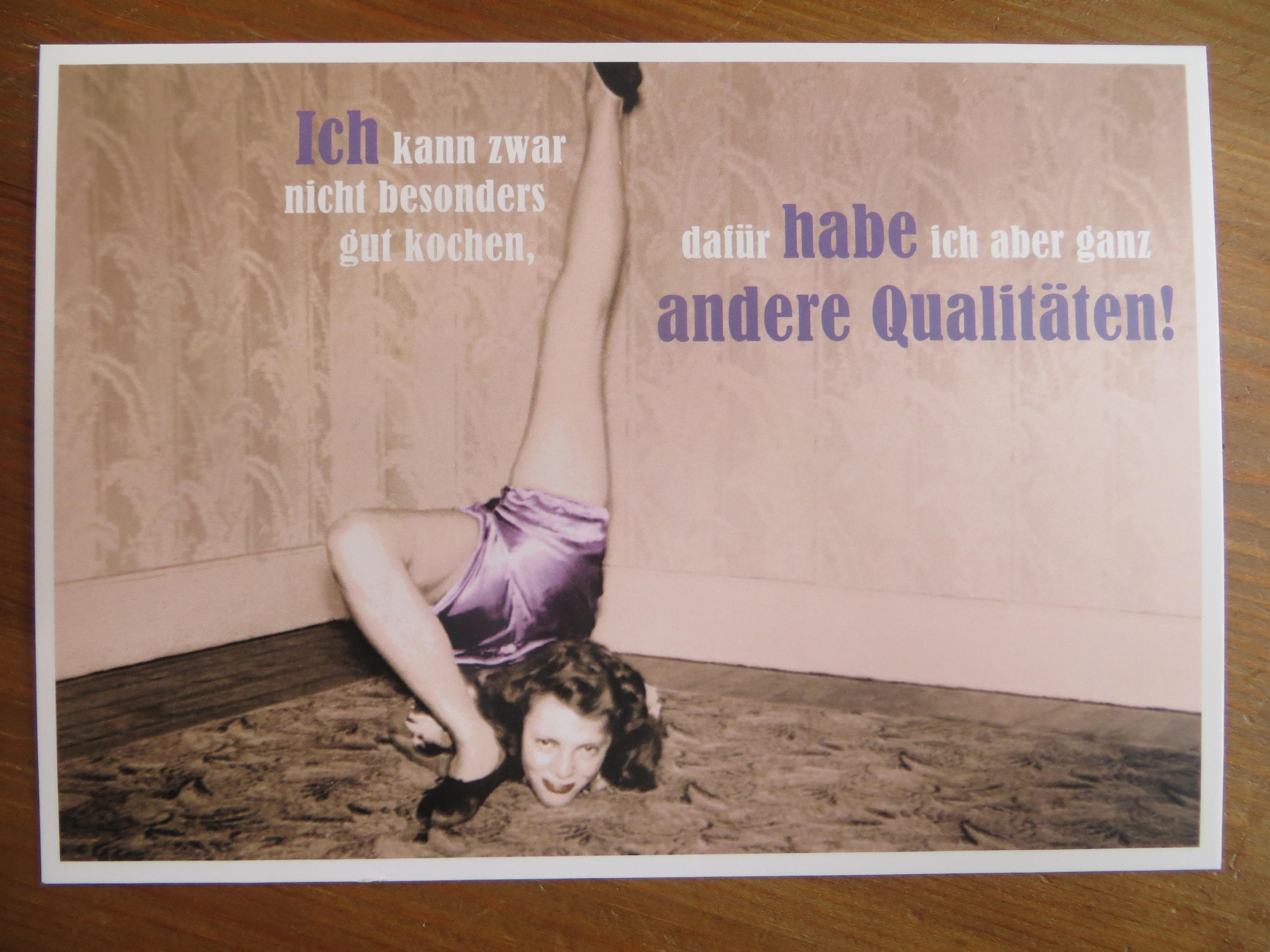 Nützlichgrusskarten - Postkarte Karte Ich kann zwar nicht besonders... Paloma - Onlineshop Tante Emmer