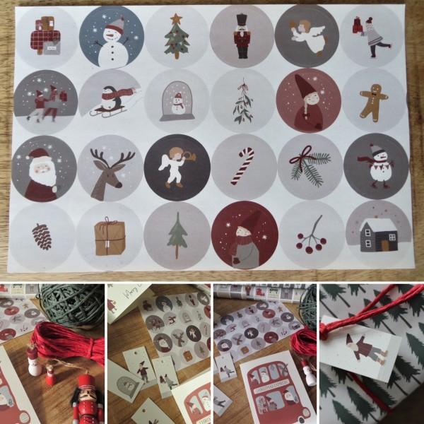 24 Weihnachtsaufkleber, Ib Laursen ApS
