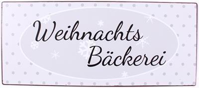 """Metall Schild """"Weihnachs Bäckerei"""""""