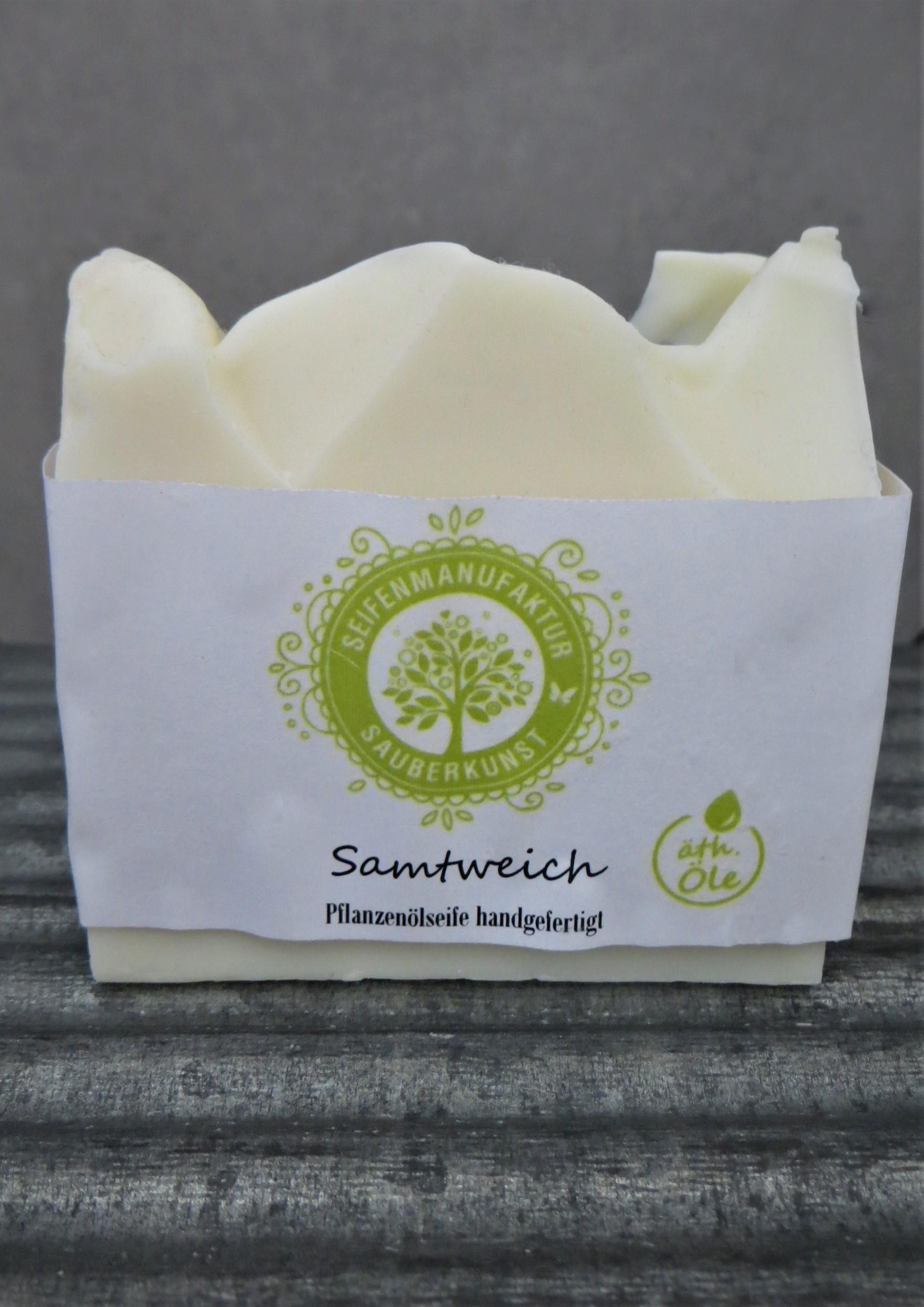 Nützlichwellness - Pflanzenölseife Samtweich100 g SauberKunst - Onlineshop Tante Emmer
