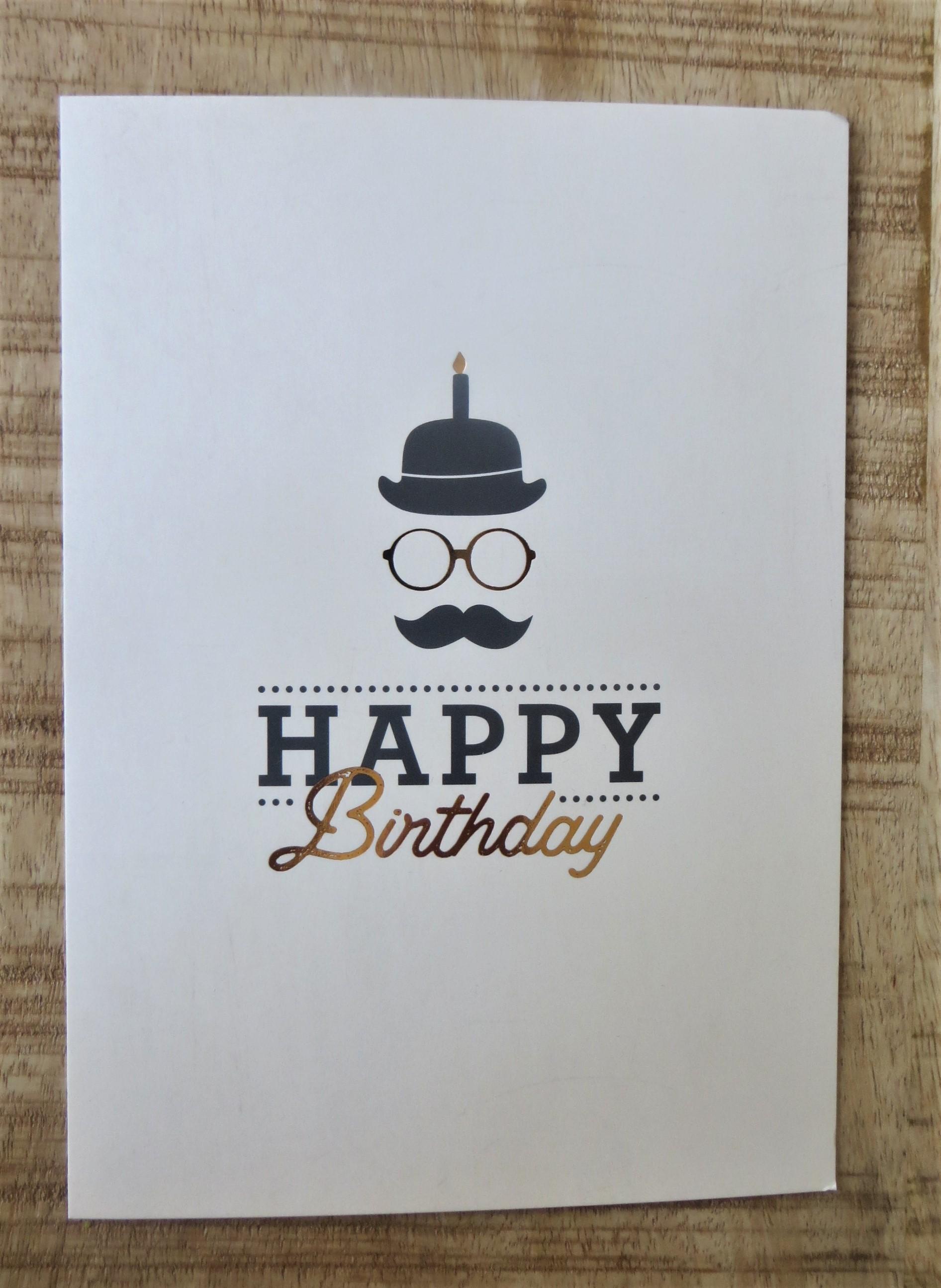 Nützlichgrusskarten - Postkarte Happy birthday VintageArt - Onlineshop Tante Emmer