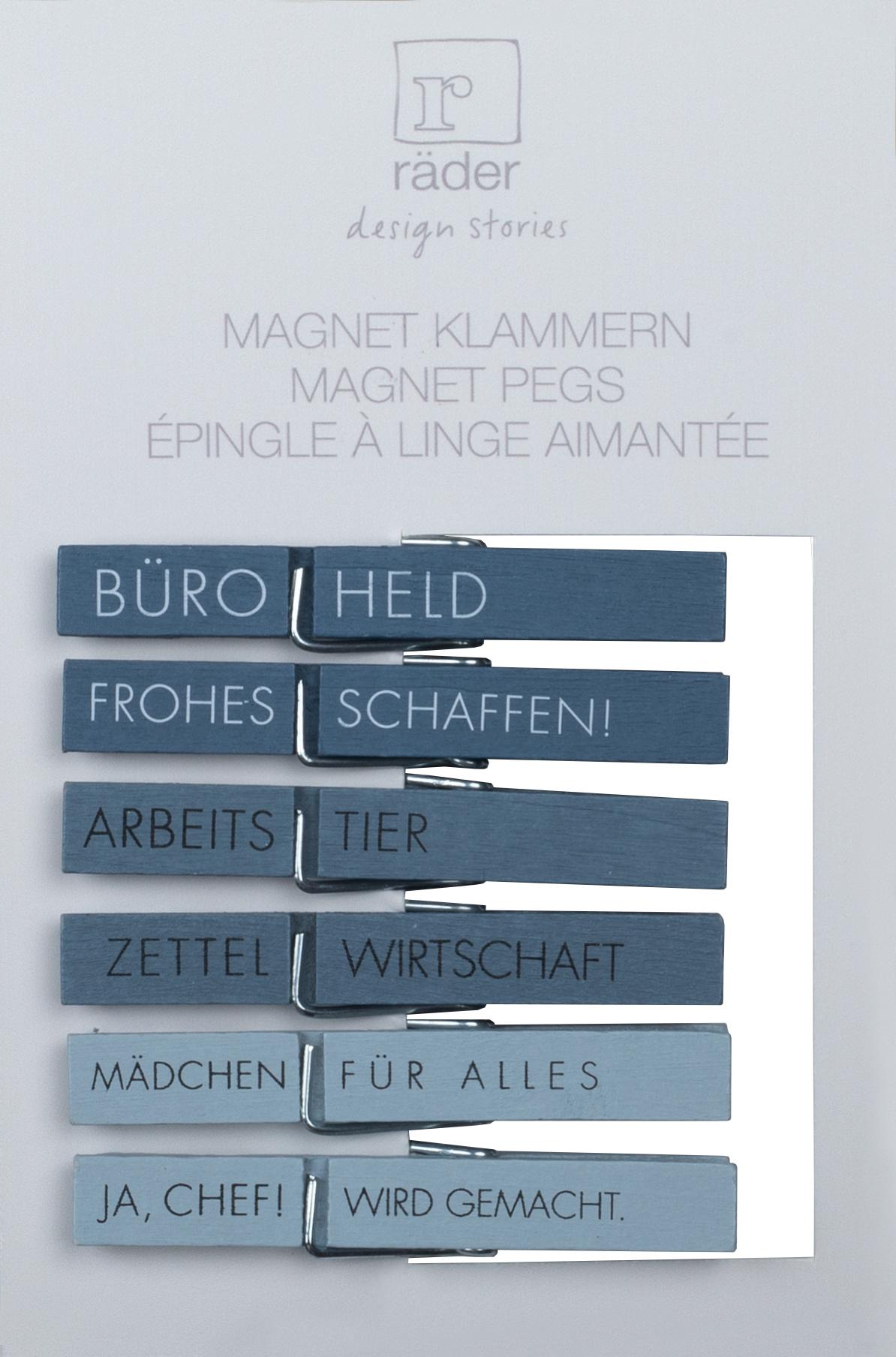 Witzigschilder - Magnet Klammern Büroheld Frohes Schaffen Zettelwirtschaft Arbeitstier ... 6er Set räder Copy - Onlineshop Tante Emmer