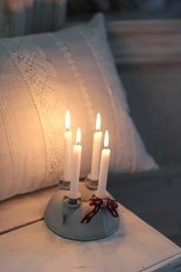 Backform aus Zink mit für vier Kerzen VL Home Collection