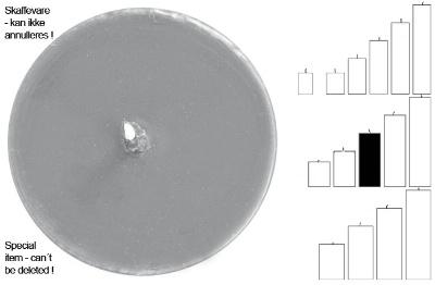 Stumpenkerze grau Ib Laursen AsP
