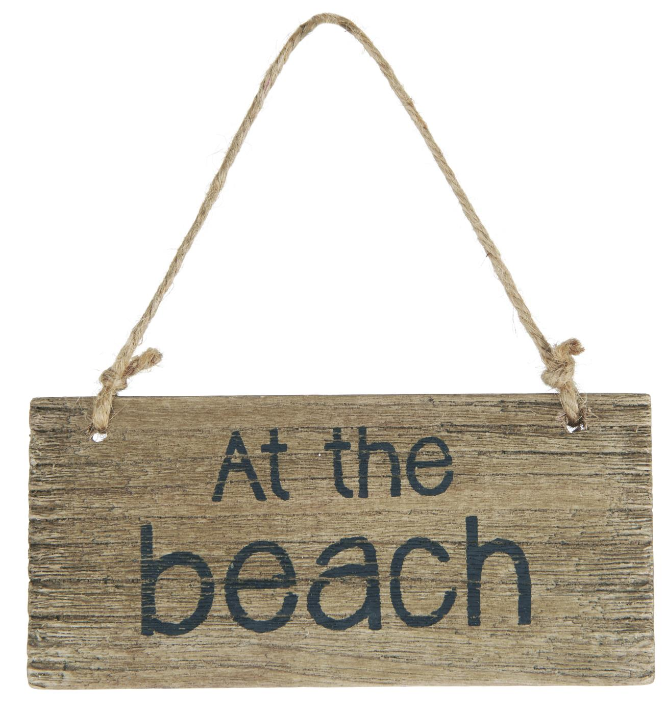 Witzigschilder - Holzschild At the beach IB Laursen - Onlineshop Tante Emmer