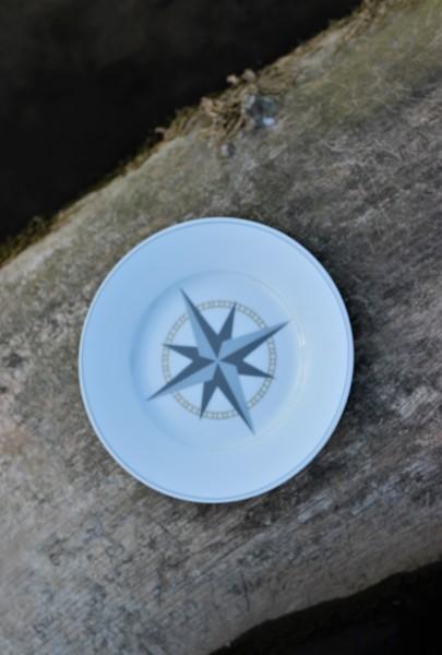 "Dessertteller ""Kompass"" 20cm, Krasilnikoff"