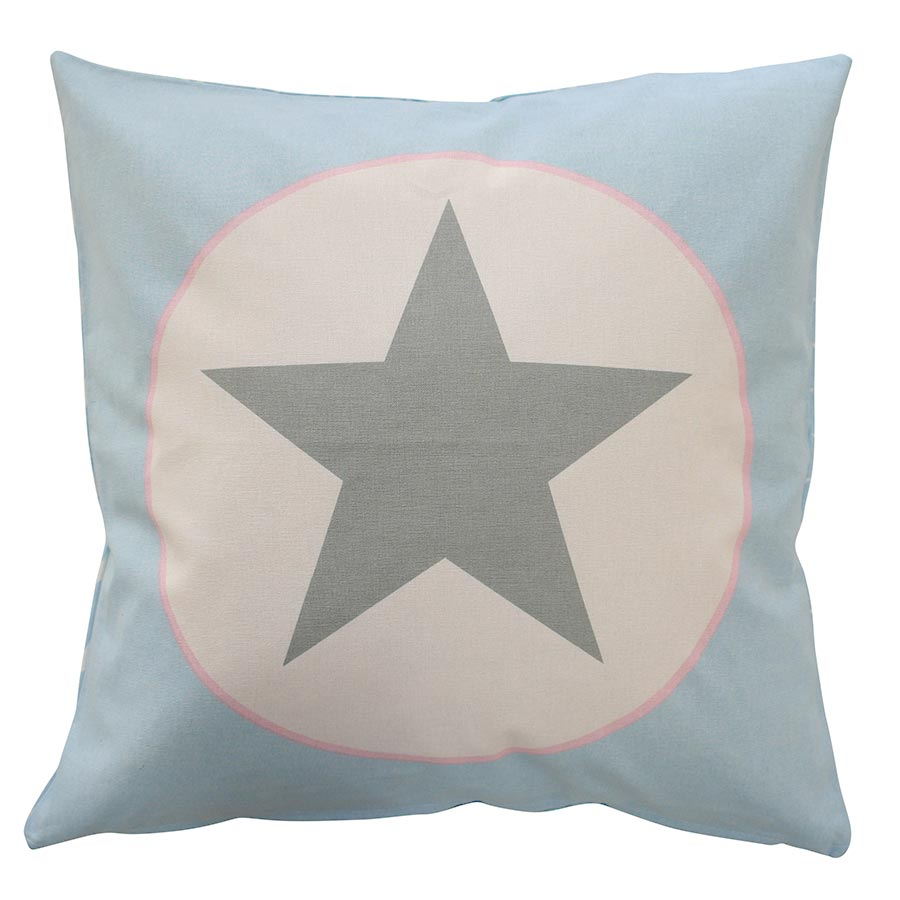 Kissenbezug Kissenhülle Blue big star 50x50 cm