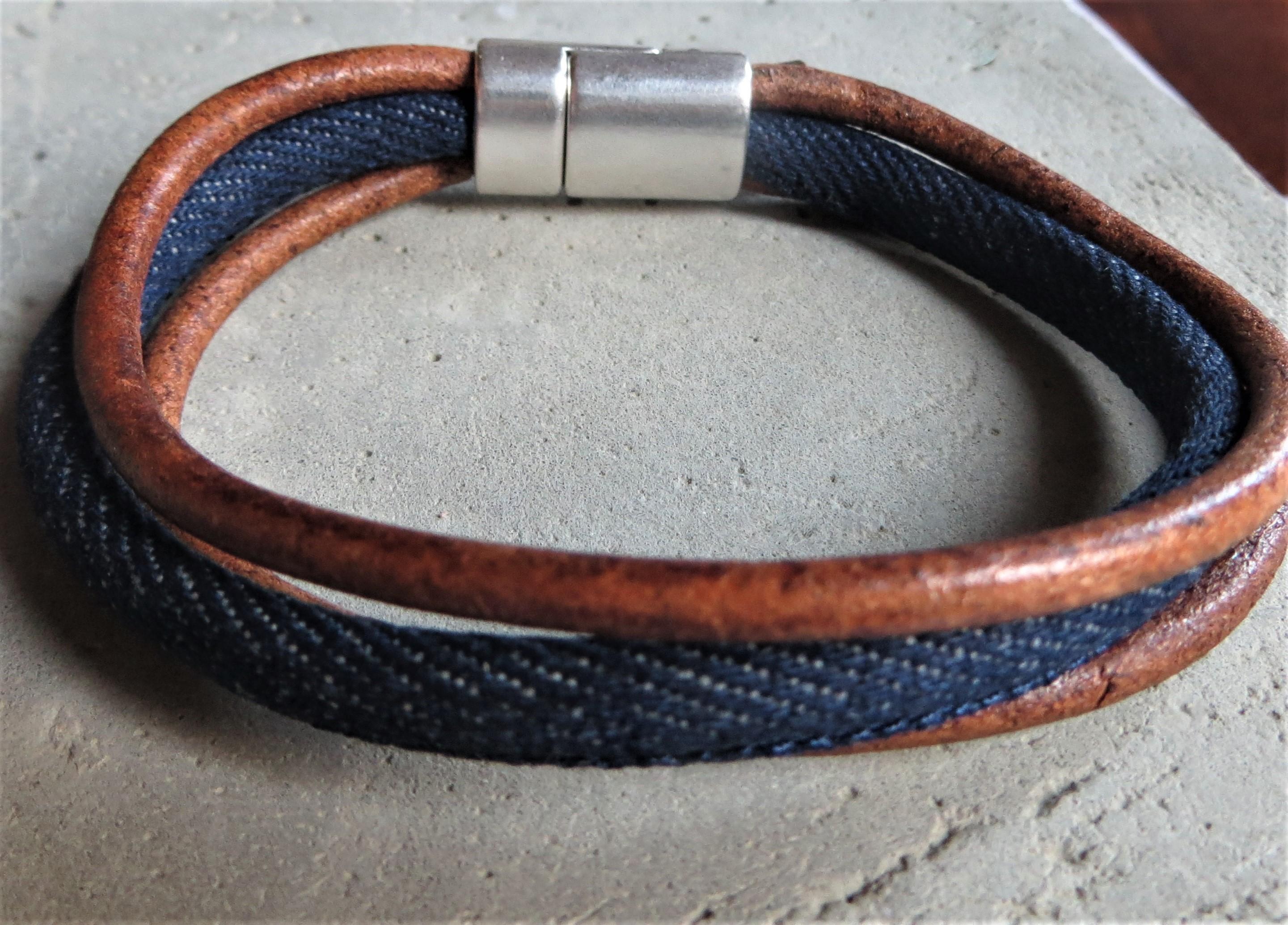 QOSS Armband JAAP Braun Blau für IHN M