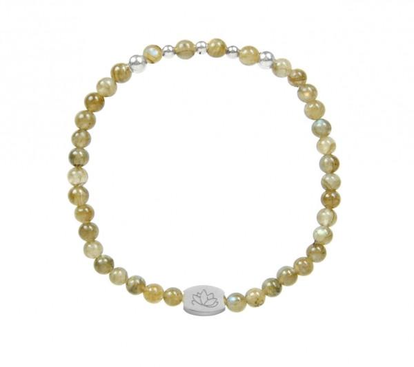 MAS jewelz Armband Labradorit/ Silber 4mm