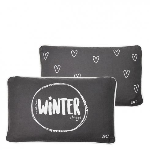 Kissen warm WINTER days incl. Füllung und Reißverschluss