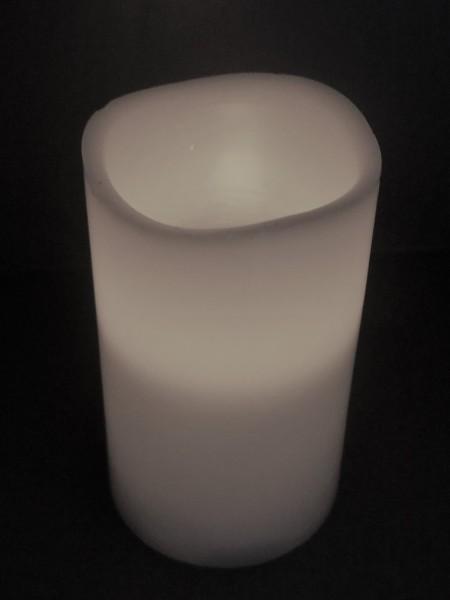 Blockkerze/ Stumpenkerze mit LED Licht und Timer