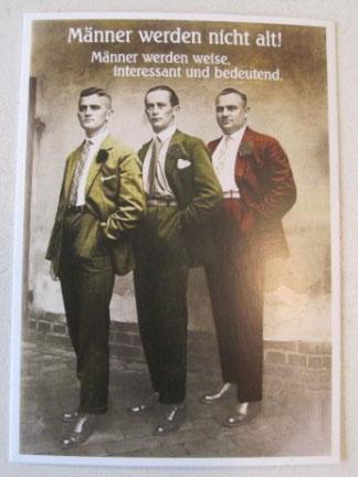 Postkarte Karte Männer werden nicht alt Männer werden weise interessant und bedeutend.