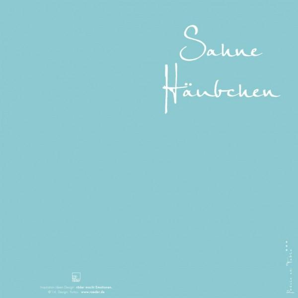 """Servietten """"Sahne Häubchen"""" , 33 cm , räder"""