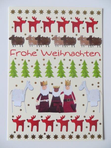 Nützlichgrusskarten - Postkarte Weihnachtskarte Frohe Weihnachten Kultura - Onlineshop Tante Emmer