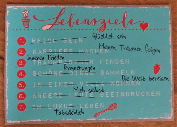 "Postkarte ""Lebensziele ..."" KUNST und BILD"