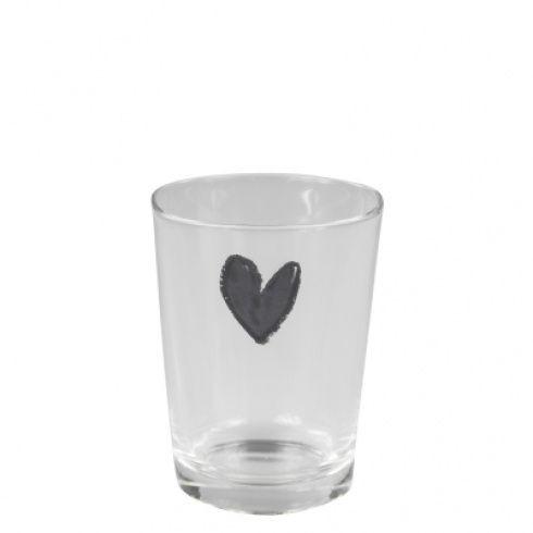 Wasserglas / Trinkglas mit Herz