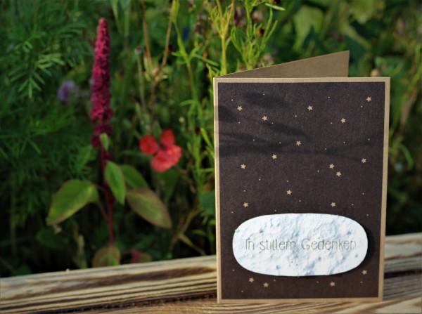 """Grußkarte """"In stillem Gedenken"""", mit Wildblumen-Saatpapier"""
