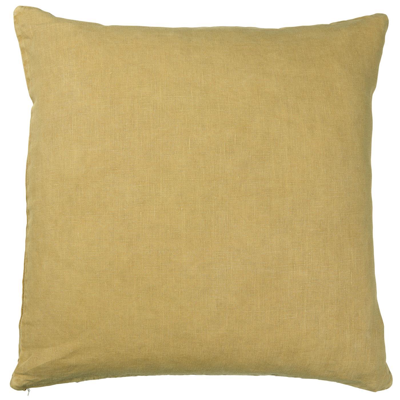 Kissenbezug Leinen gelb 50x50cm