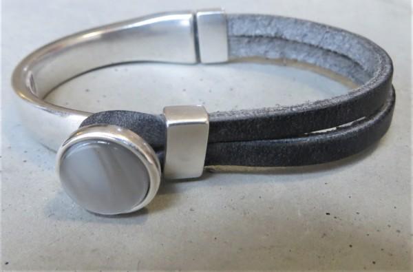 QOSS Armband GWEN schwarz-silber S
