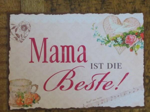 """Postkarte """"Mama ist die beste!"""""""