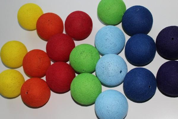Cotton ball lights 20er Lichterkette rainbow
