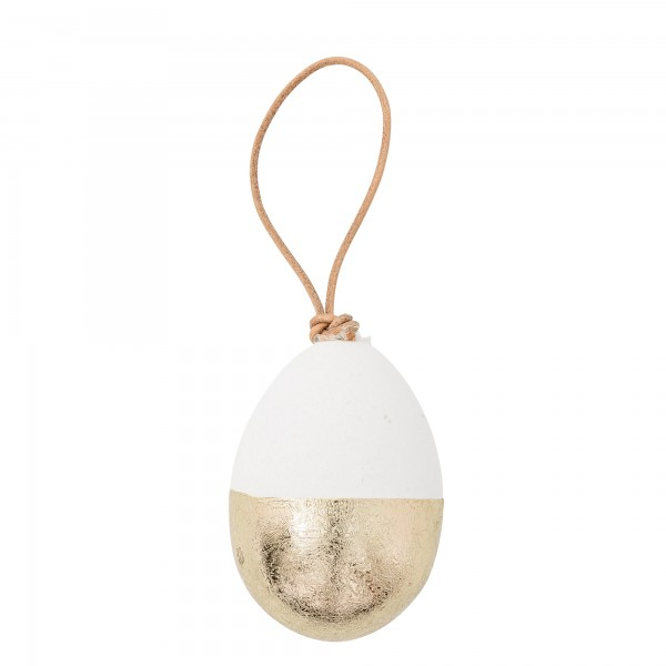 Oster-Ei weiß-gold