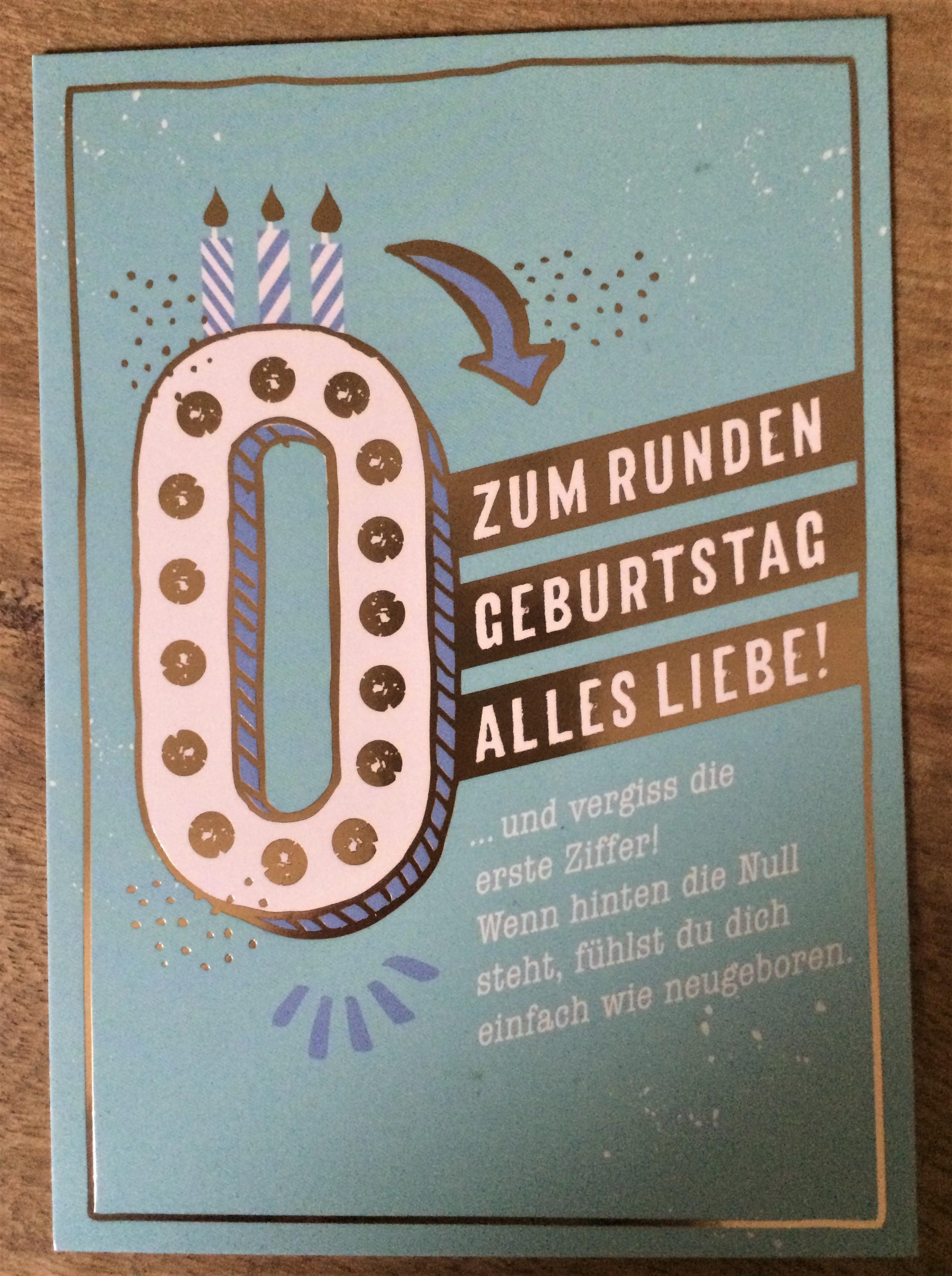 - Postkarte Zum runden Geburtstag alles Liebe... - Onlineshop Tante Emmer
