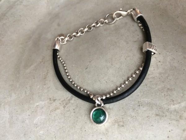 QOSS Armband MILOU schwarz-smaragdgrün, onesize
