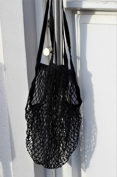 Einkaufsnetz NET BAG aus Baumwolle, Schwarz