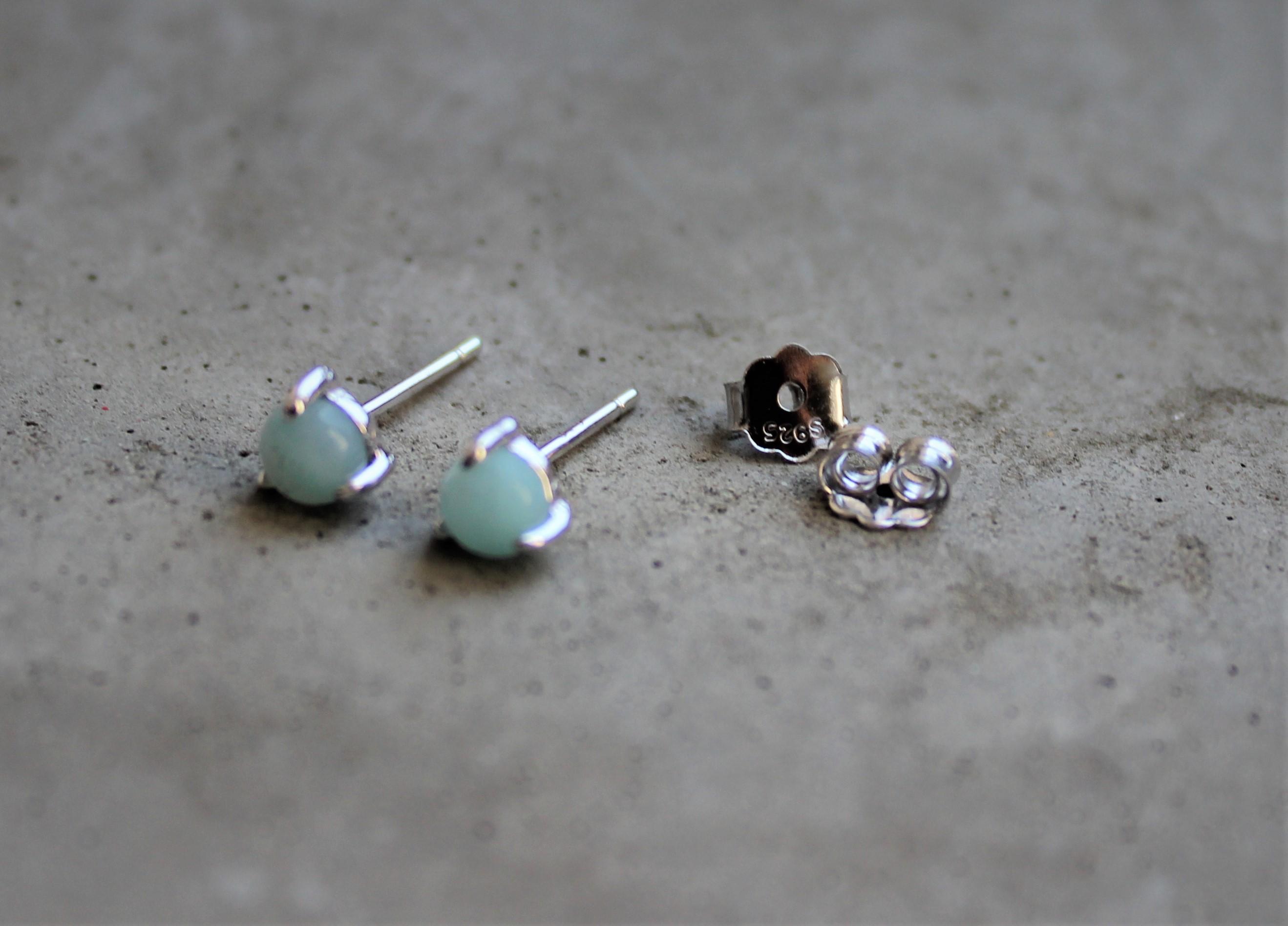 Ohrringe für Frauen - MAS jewelz Ohrstecker Amazonit Silber  - Onlineshop Tante Emmer