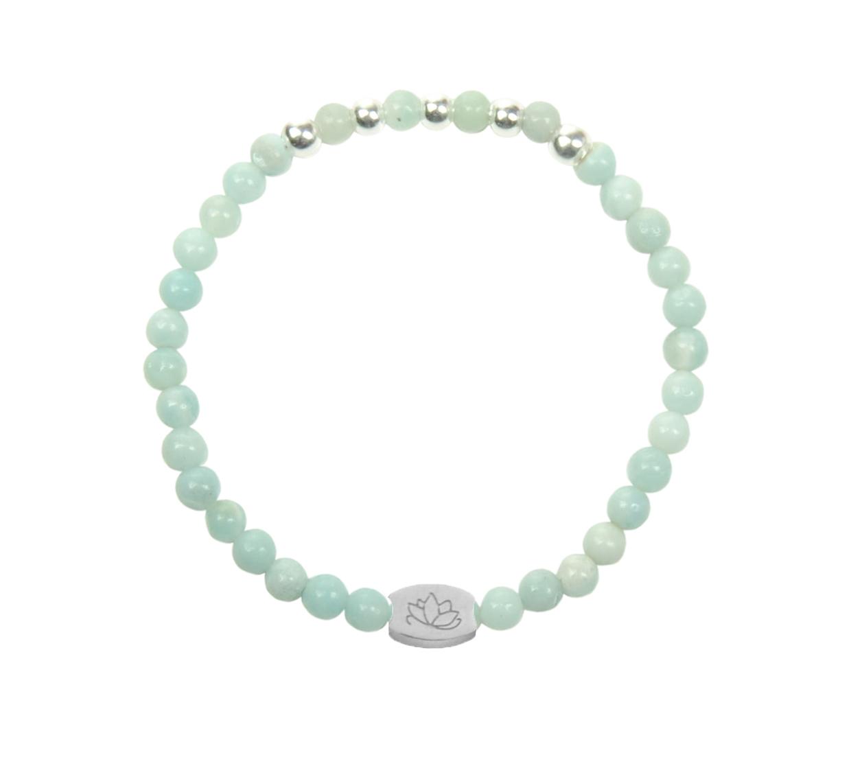 Armbaender für Frauen - MAS jewelz Armband Amazonit Silber 4mm  - Onlineshop Tante Emmer